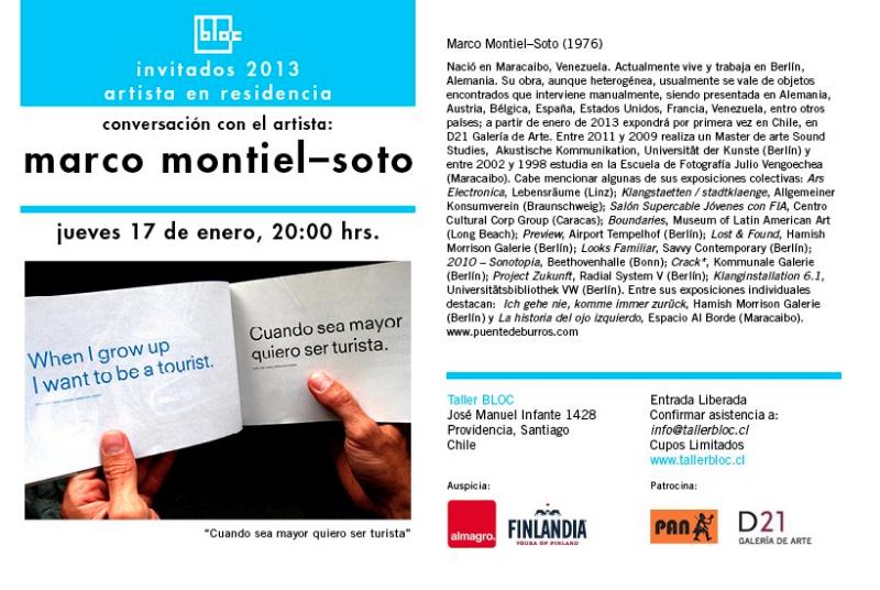 charla con Marco Montiel-Soto