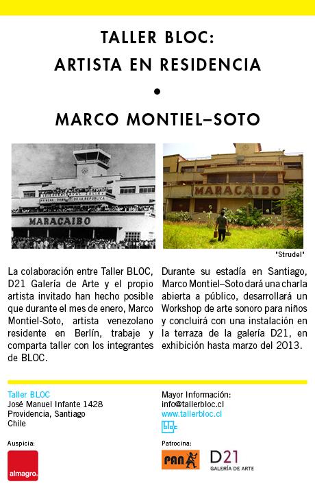residencia bloc d21 Marco  Montiel-Soto